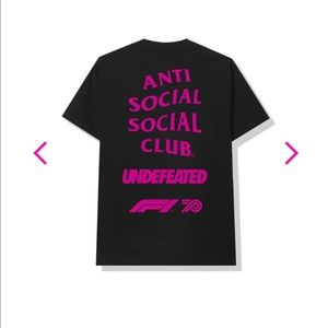 Mens 2XL ASSC x Undefeated  x F1 t shirt.